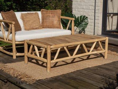 Table basse en branche de teck - bois flotté