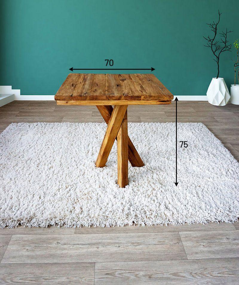 Table ronde exotique en teck recyclé