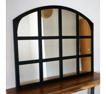 Miroir industriel design noir 120 X 100 cm