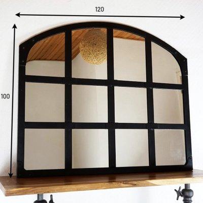 Miroir industriel design noir