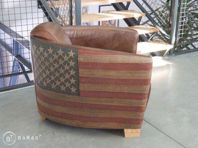 Fauteuil aviateur drapeau américain