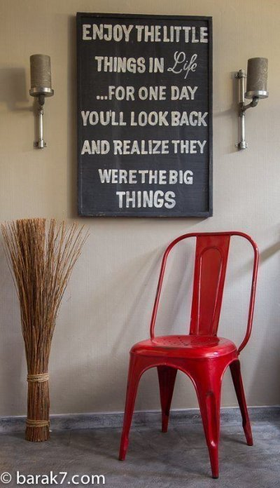 Chaise industrielle métal rouge