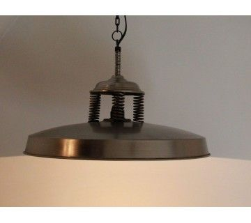 Grande suspension industrielle antique
