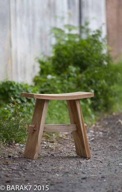 Tabouret « Woody » Urban Jungle en teck