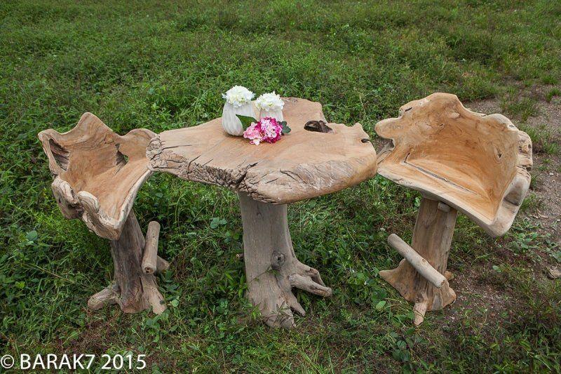 Table de bar Amazonia Urban Jungle en teck