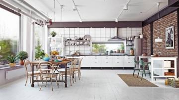 L'enfilade scandinave adaptée à une salle à manger vintage