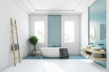 Style scandinave : dans la salle de bains aussi !