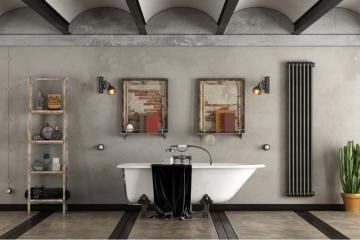 Une salle de bain au style industriel!